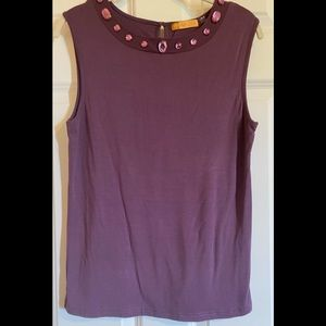 NWOT Hope by Kristian Alfonso tank with bling.